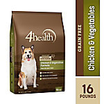 4health Grain-Free Chicken & Vegetables Formula Adult Dog Food, 16 lb. Bag