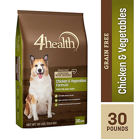 4health Grain Free Chicken & Vegetables Formula Adult Dog Food, 30 lb. Bag