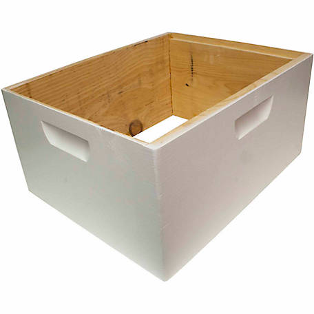 Harvest Lane Honey Beehive Deep Brood Box Painted and Assembled, 16-1/4 in. x 19-7/8 in. x 9-1/2 in.