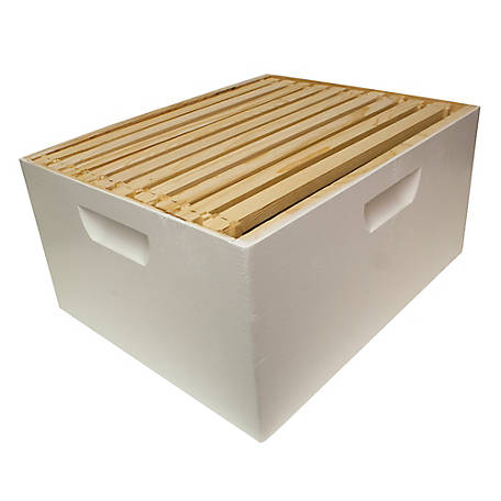 Harvest Lane Honey Beehive Deep Brood Box Complete with 10 Frames & Foundation, 16-1/4 in. x 19-7/8 in. x 9-1/2 in., WWBCD-101