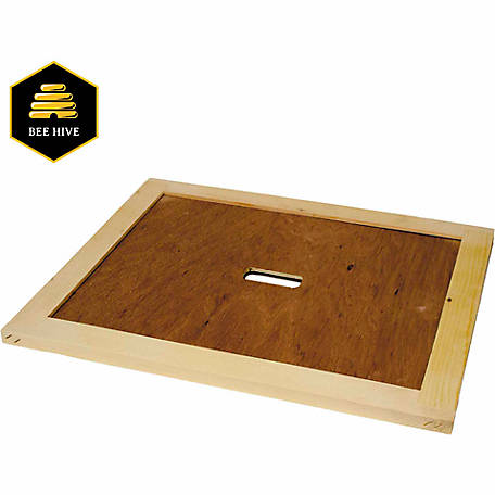 Harvest Lane Honey Beehive Inner Cover with Bee Escape Hole