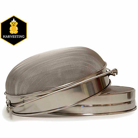 Harvest Lane Honey Metal Honey Sieve with Double Screen