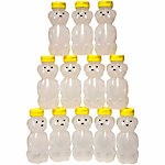 Harvest Lane Honey 8 oz. Honey Bear with Lids, Pack of 12