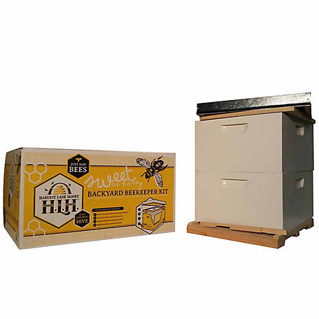 Harvest Lane Honey Beekeeping Beehive Starter Kit, 2 Box without Accessories
