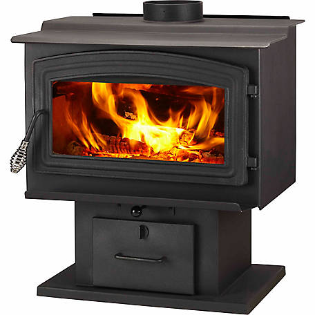 WoodPro WS-TS-2000 EPA-Certified Wood Stove with Blower Heats up to 2,000 sq. ft.