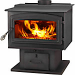 WoodPro WS-TS-2500 EPA-Certified Wood Stove with Blower Heats up to 2,500 sq. ft.