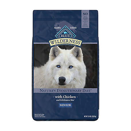 Blue Buffalo Wilderness Chicken Recipe Dry Dog Food For Senior Dogs, 24 lb.