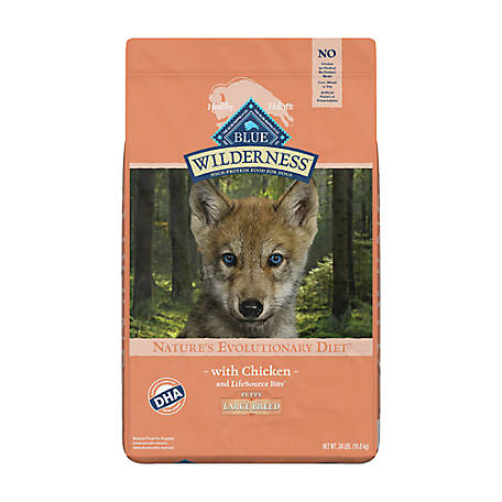 Blue Buffalo Wilderness Chicken For Large Breed Puppies, 24 lb. Bag