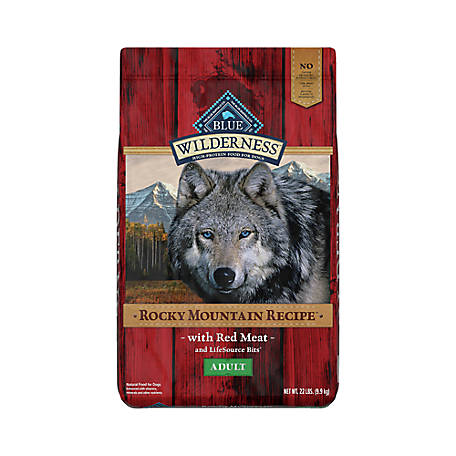 Blue Buffalo Wilderness Rocky Mountain Recipe Red Meat Dog Food For Adult Dogs, 22 lb.