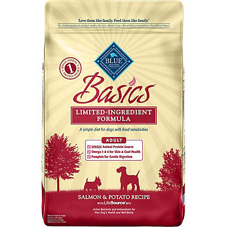 Blue Buffalo BLUE Basics Limited Ingredient Diet Adult Salmon & Potato Dry Dog Food, 24 lb. Bag