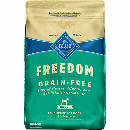 Blue Freedom Grain-Free Lamb Recipe Adult Dog Food, 24 lb.