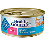 Blue Buffalo Blue Healthy Gourmet Pate Indoor Chicken Adult Canned Cat Food, 5.5 oz. Can