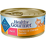 Blue Buffalo Blue Healthy Gourmet Pate Turkey & Chicken Adult Canned Cat Food, 5.5 oz. Can