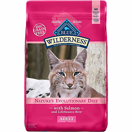 Blue Wilderness Salmon Recipe For Adult Cats, 11 lb.
