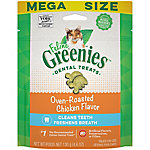 Greenies Feline Dental Treat, Oven Roasted Chicken, 5.5 oz.