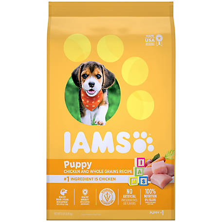 IAMS PROACTIVE HEALTH Smart Puppy Dry Dog Food with Real Chicken, 15 lb. Bag, 15 lb.