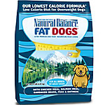 Natural Balance Fat Dogs Chicken & Salmon Formula Low Calorie Dry Dog Food, 15 lb.