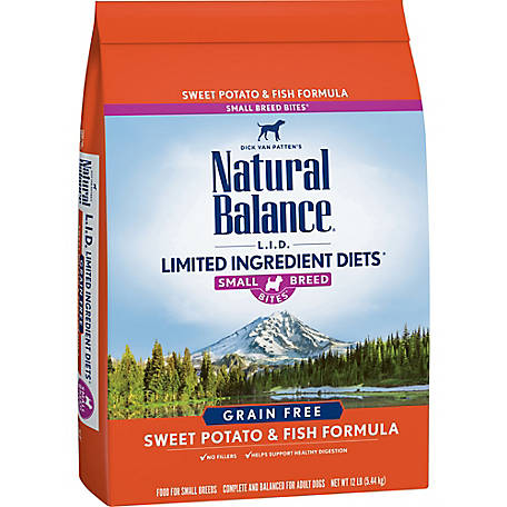 Natural Balance Small Breed Bites L.I.D. Limited Ingredient Diets Sweet Potato & Fish Formula Dry Dog Food, 12 lb.