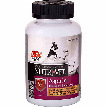 Nutri-Vet Aspirin for Small/Medium Dogs, Pack of 100