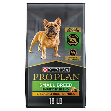 Purina Pro Plan Savor Adult Shredded Blend Small Breed Chicken & Rice Formula Dog Food, 18 lb. Bag