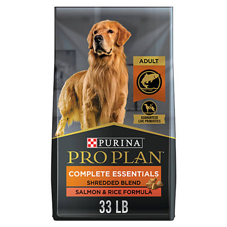 Purina Pro Plan with Probiotics Dry Dog Food, SAVOR Shredded Blend Salmon & Rice Formula, 33 lb. Bag