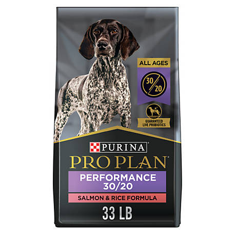 Purina Pro Plan Sport All Life Stages Performance 30/20 Formula Salmon & Rice Formula Dog Food, 33 lb. Bag