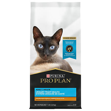 Purina Pro Plan FOCUS Urinary Tract Health Chicken & Rice Formula Adult Dry Cat Food, 7 lb. Bag