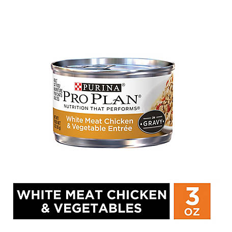 Purina Pro Plan White Meat Chicken & Vegetable Entree in Gravy Adult Wet Cat Food - 3 oz. Pull-Top Can