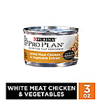 Purina Pro Plan White Meat Chicken & Vegetable Entree in Gravy Adult Wet Cat Food, 3 oz. Can