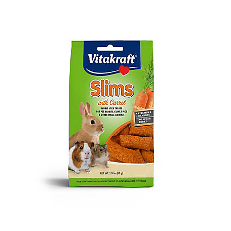 Vitakraft Vitakraft Slims with Carrot Nibble Treat,1.76 oz., 25677