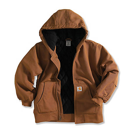 Carhartt Boys' 12 oz. Duck Outerwear Jacket with Hood