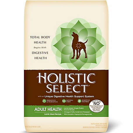 Holistic Select Natural, Lamb Meal Recipe Dry Dog Food, 30 lb. Bag