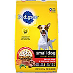 Pedigree Small Dog Adult Complete Nutrition Grilled Steak and Vegetable Flavor Dry Dog Food, 15.9 lb. Bag