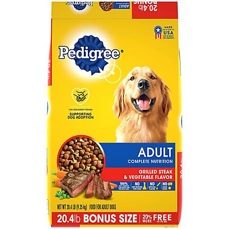 Pedigree Adult Complete Nutrition Grilled Steak Vegetable Flavor