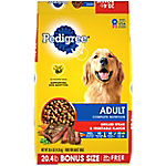 Pedigree Adult Complete Nutrition Grilled Steak & Vegetable Flavor Dry Dog Food 20.4 lb. Bag