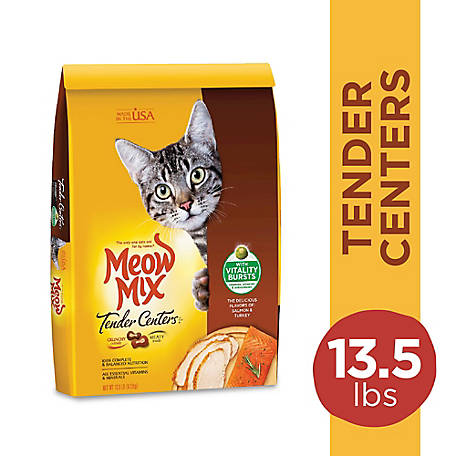 Meow Mix Tender Centers Salmon & Turkey Dry Cat Food, 13.5 lb.