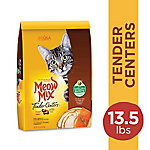 Meow Mix Tender Centers Salmon & Turkey Flavors with Vitality Bursts Dry Cat Food, 13.5 lb. Bag