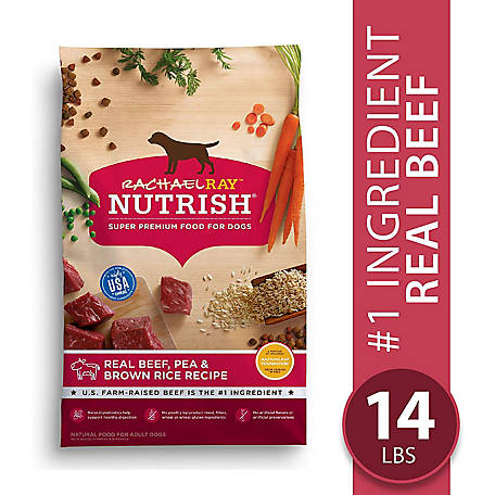 Rachael Ray Nutrish Real Beef & Brown Rice Recipe Dog Food, 14 lb.