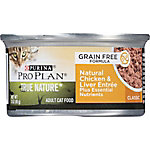 Purina Pro Plan TRUE NATURE Chicken & Liver Entree Classic Adult Wet Cat Food, 3 oz. Can