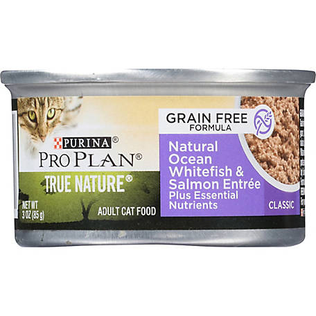 Purina Pro Plan Natural, High Protein, Grain Free Pate Wet Cat Food, TRUE NATURE Whitefish & Salmon, 3 oz. Pull-Top Can