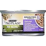 Purina Pro Plan TRUE NATURE Ocean Whitefish & Salmon Entree Classic Adult Wet Cat Food, 3 oz. Can