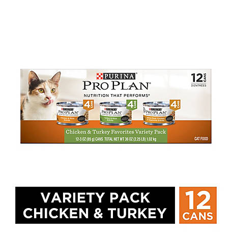 Purina Pro Plan Chicken Turkey Entrees Variety Pack Adult Wet Cat