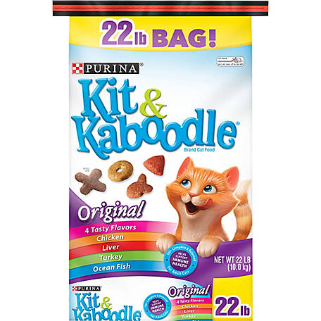 Kit & Kaboodle Purina Kit & Kaboodle Dry Cat Food; Original, 22 lb. Bag