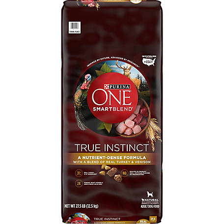 Purina ONE SmartBlend True Instinct with Real Turkey & Venison Adult Premium Dog Food, 27.5 lb. Bag