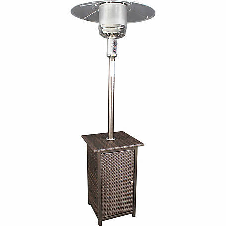 HomComfort Goldtone Patio Heater with Wicker Stand, HCPHWKR