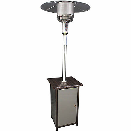 HomComfort Stainless Steel Patio Heater with Wicker Stand
