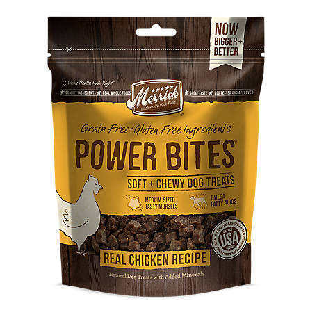 Merrick Power Bites Real Chicken Recipe, (6) 6 oz. Cans