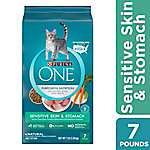 Purina One Sensitive Systems Premium Adult Dry Cat Food, 7 lb. Bag