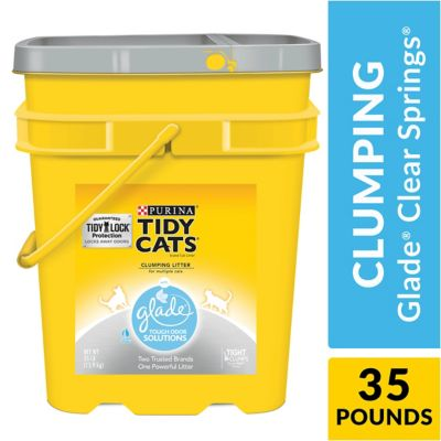 Buy Tidy Cats Tough Odor Solutions Clumping Litter; 35 lb. Pail Online