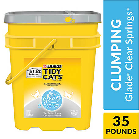 Purina Tidy Cats Clumping Cat Litter, Glade Clear Springs Multi Cat Litter, 35 lb. Pail, 12208138
